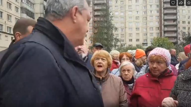 В Колпино вышли протестовать против строительства детсада на месте сквера