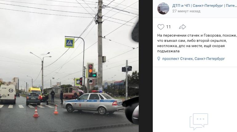 На Стачек иномарка сбила девочку на пешеходном переходе