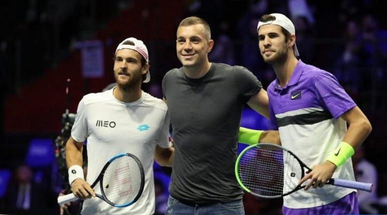 Хачанов проиграл Соузе на матче SPb Open, где побывал Дзюба