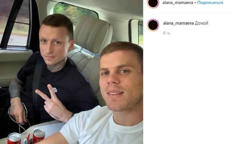 Жена Мамаева выложила в Instagram фото мужа и улыбающегося Кокорина