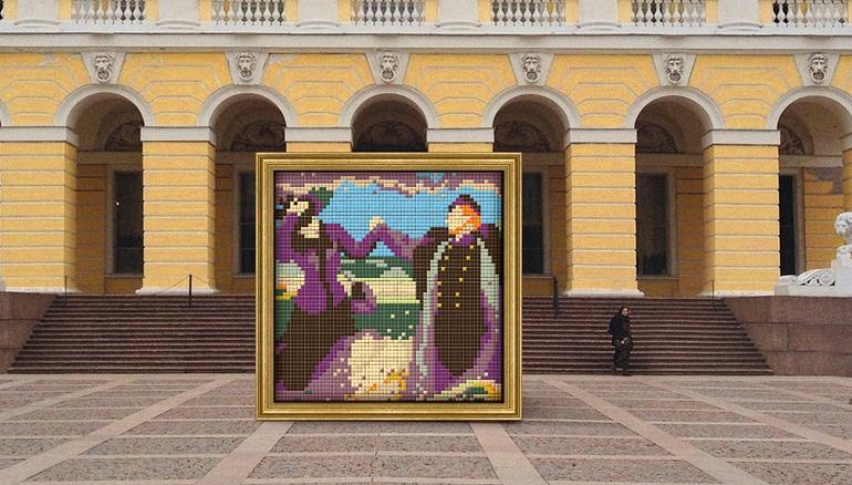 К вечеру от шоколадного Репина у Русского музея останется только рама