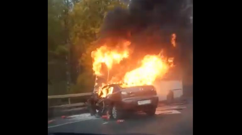 В результате ДТП на Волхонском шоссе пострадали семь пассажиров ПАЗа