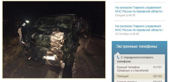 Под Кировом в ДТП с автобусом погибли четыре человека