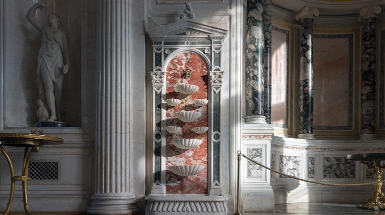 В Павильонном зале Эрмитажа заработали отремонтированные фонтаны