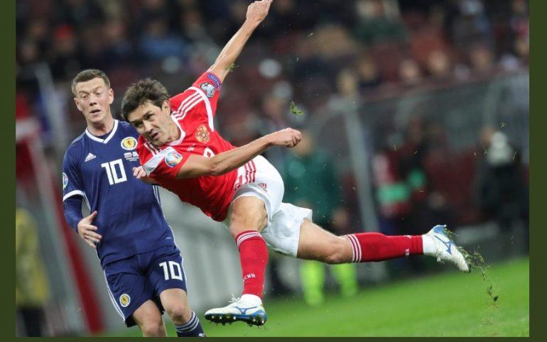 Два игрока «Зенита» помогли сборной России обыграть Шотландию со счетом 4:0