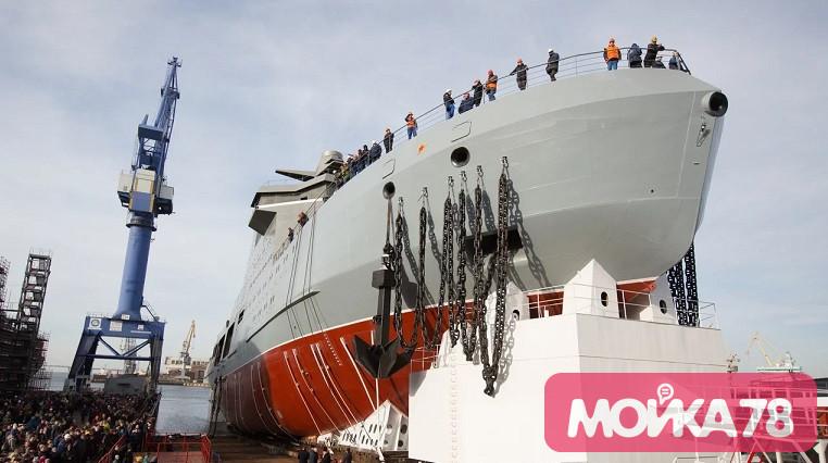 Как спускали ледокол «Иван Папанин»: фоторепортаж «Мойки78»