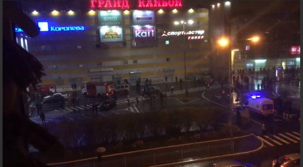 Пожар в ТРК «Гранд Каньон»: эвакуировано 2 тысячи покупателей