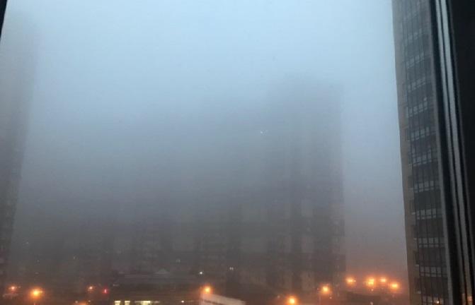 МЧС предупреждает петербуржцев о тумане в понедельник