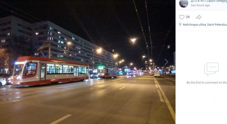 ДТП на Наличной парализовало движение трамваев