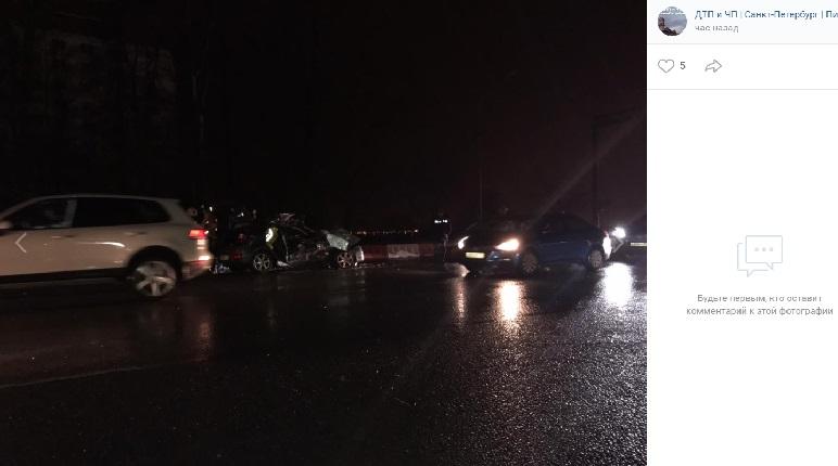 Мокрые дороги собирают ДТП в Петербурге