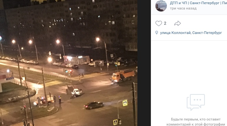 Пожарная машина спешила на вызов, но угодила в ДТП на Солидарности