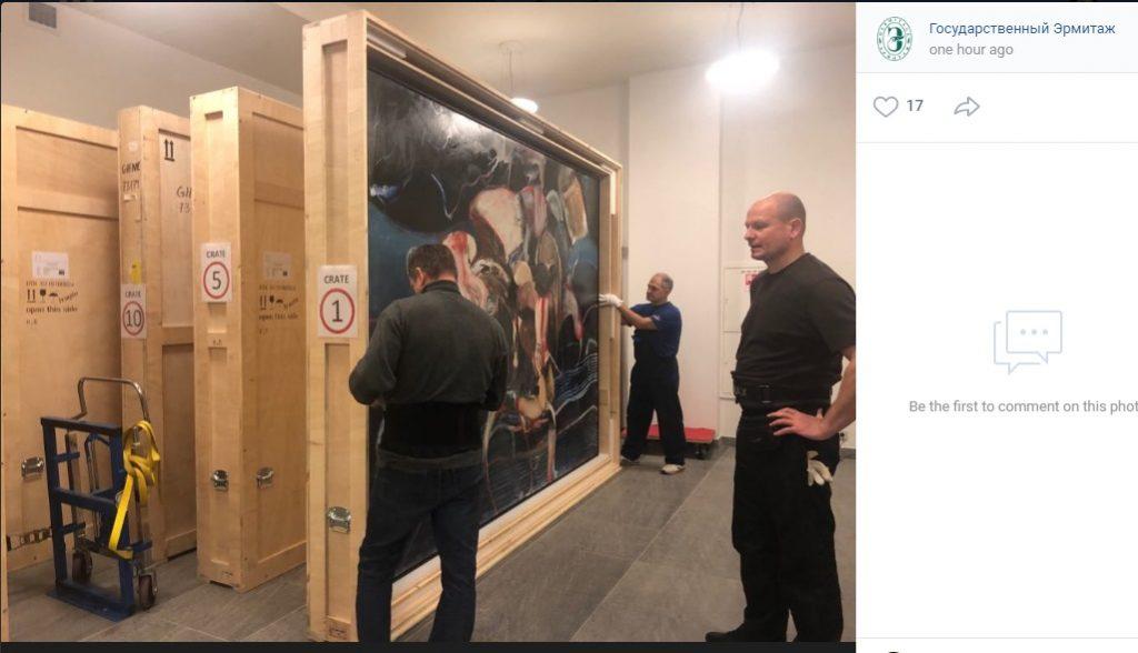 В Главный штаб привезли работы румынского живописца Адриана Гени