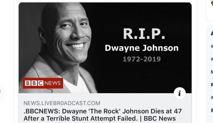 В интернете похоронили Дуэйна «Скалу» Джонсона