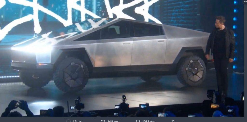 Илон Маск: заказано 146 тыс. бронированных пикапов Tesla Cybertruck