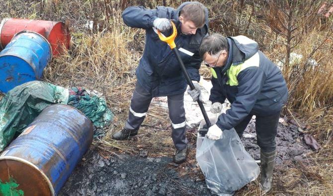 В Выборгском районе нашли почти три килограмма химических отходов