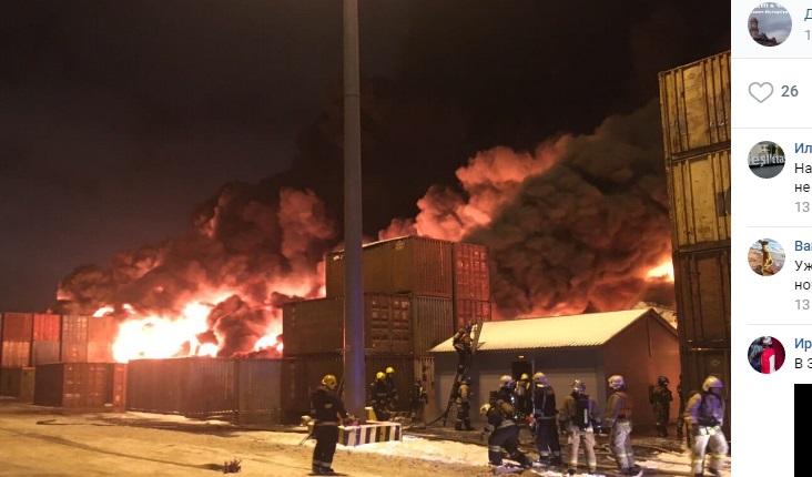 Названы предварительные причины пожара в Шушарах