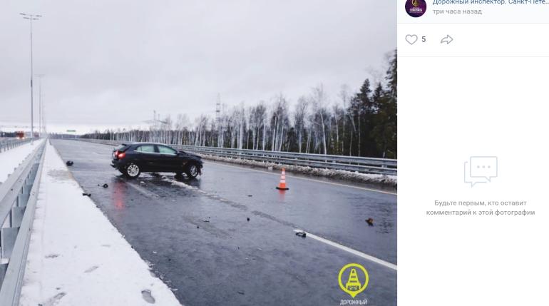 Фото машины, на которой разбился сын певицы Валерии на трассе М-11