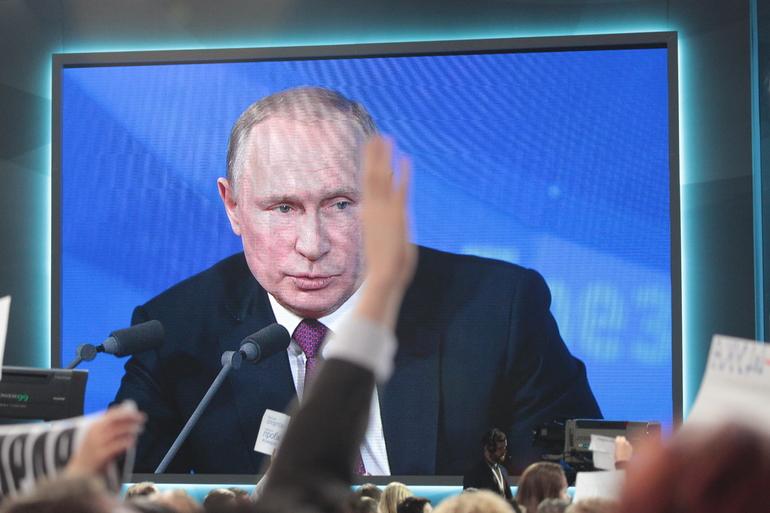 Пресс-конференция Путина наращивает рейтинги среди петербургских чиновников