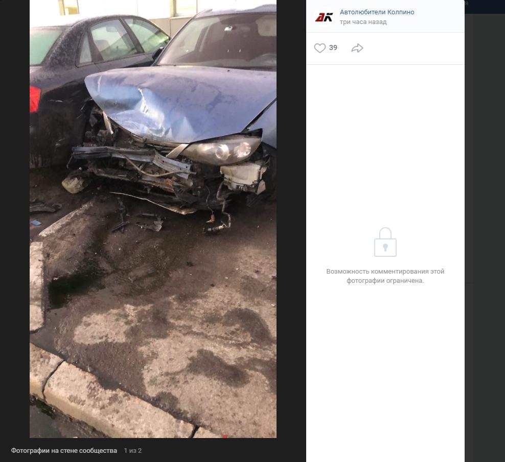 На Бухарестской водитель SAAB приехал за деталями и помял 6 чужих машин