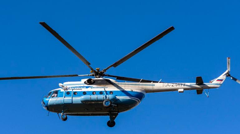 Ми-8 вспыхнул после жесткой посадки в Анадыре