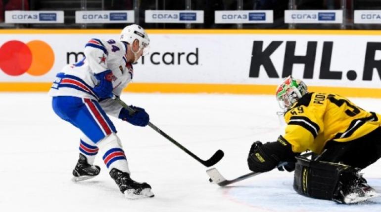 СКА сразится с «Северсталью» в матче КХЛ в Петербурге