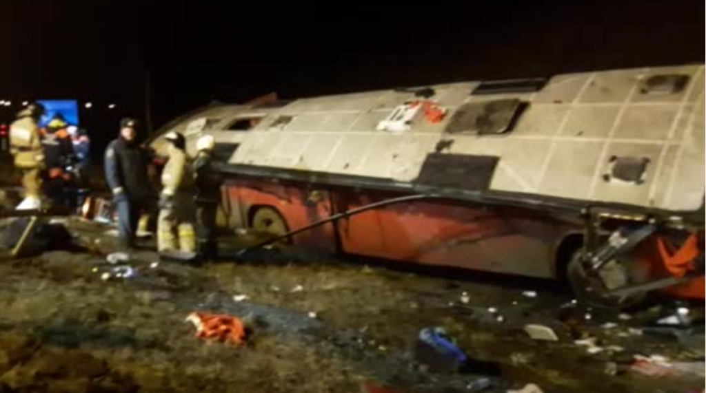 Следователи изучат обстоятельства ДТП с грузинским автобусом под Липецком