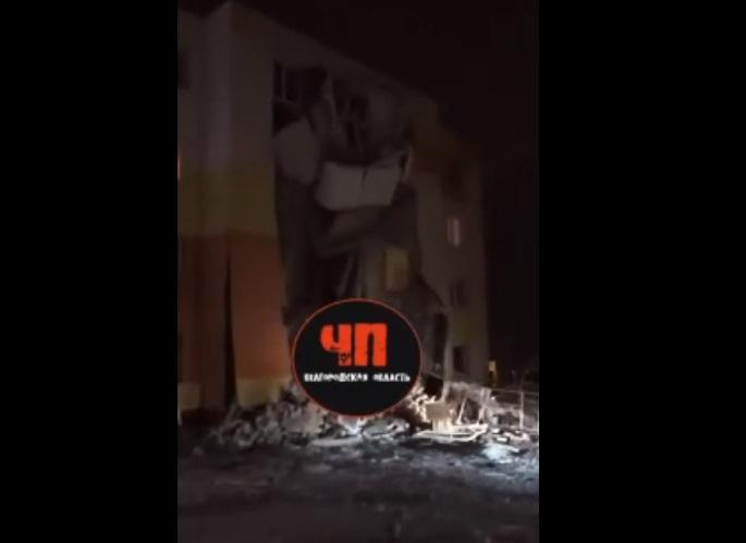 Стена жилого дома под Белгородом рухнула дважды из-за взрыва газа