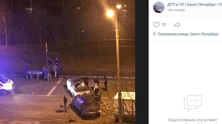 Ночью в ДТП на Планерной пострадал человек