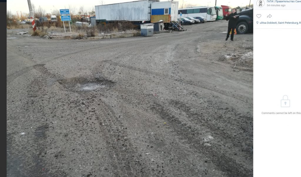 ГАТИ накажет грузовики, которые разносят грязь на колесах по Петербургу