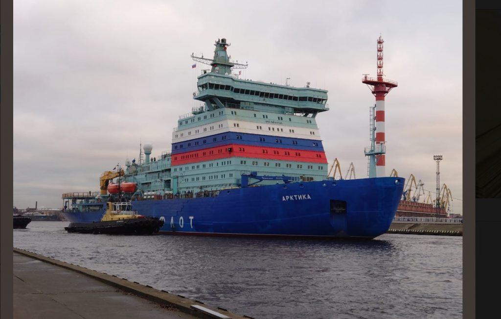 Самый мощный атомный ледокол «Арктика» проходит испытания в Финском заливе