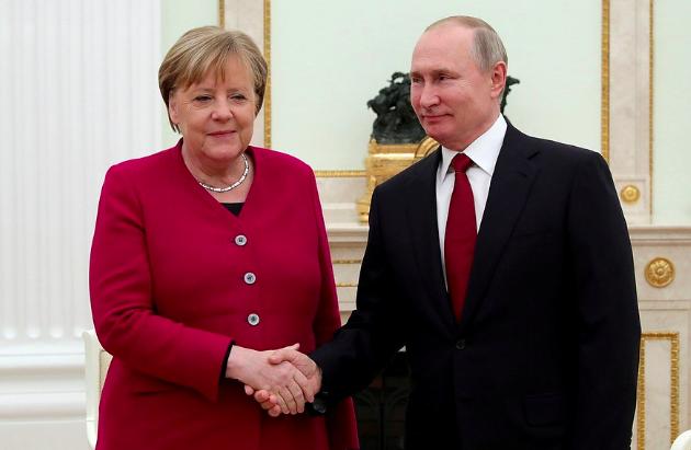 В Кремле проходят переговоры Путина и Меркель