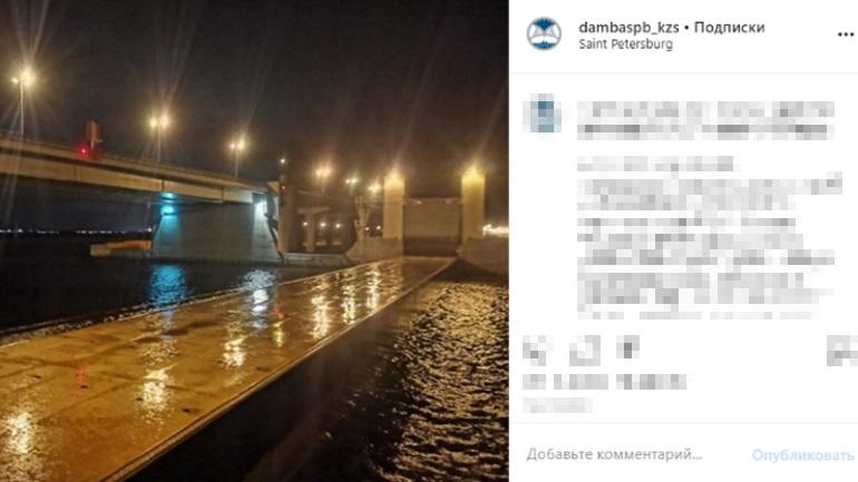 Петербургскую дамбу полностью открыли после угрозы наводнения