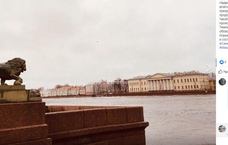 Петербург снова оказался под влиянием гребня антициклона