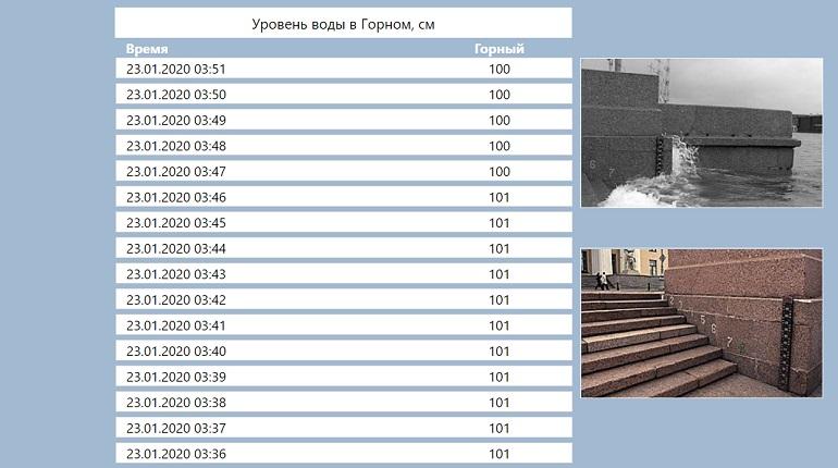 Ветер поднял уровень воды в Неве на метр