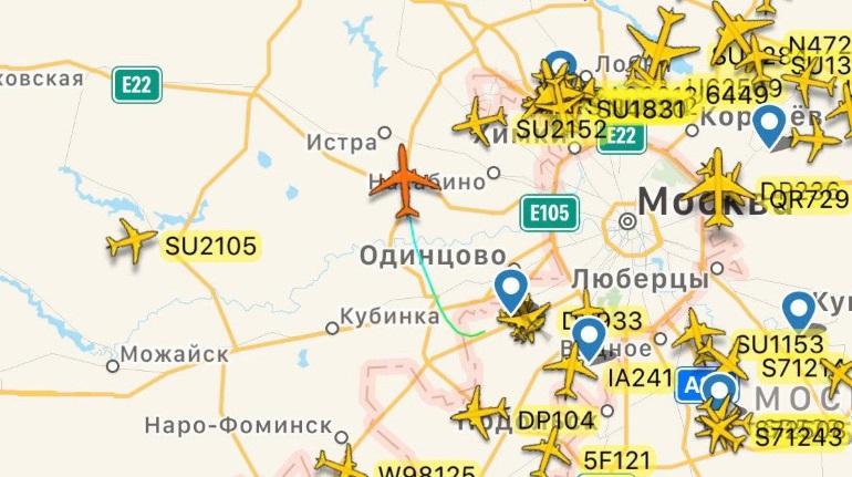Президентский Ил-96 вылетел из Внуково. Владимира Путина ждут в Петербурге