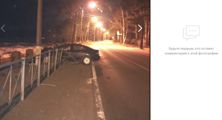 На Приморском шоссе иномарка чуть не улетела в залив