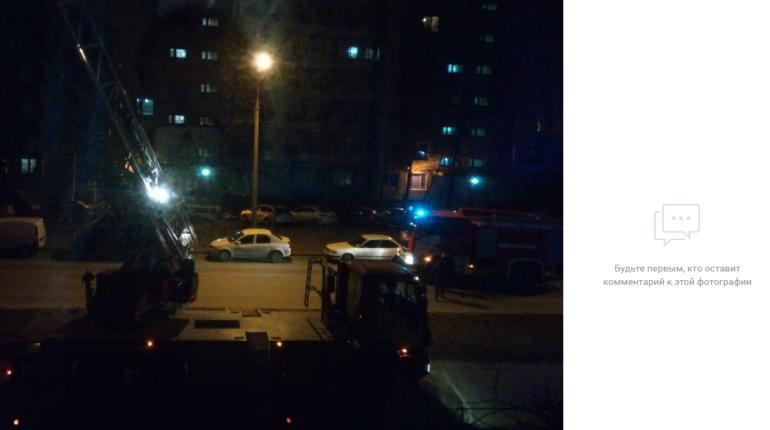 Ночной пожар перепугал жителей дома на Ленской