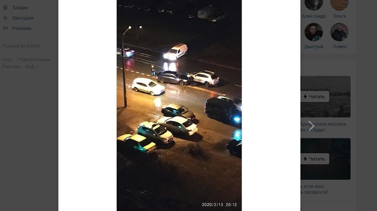 ДТП затруднило движение на улице маршала Захарова