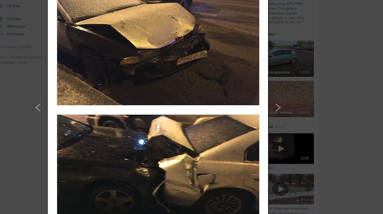 В Выборгском районе пьяный водитель Audi повредил пять легковушек