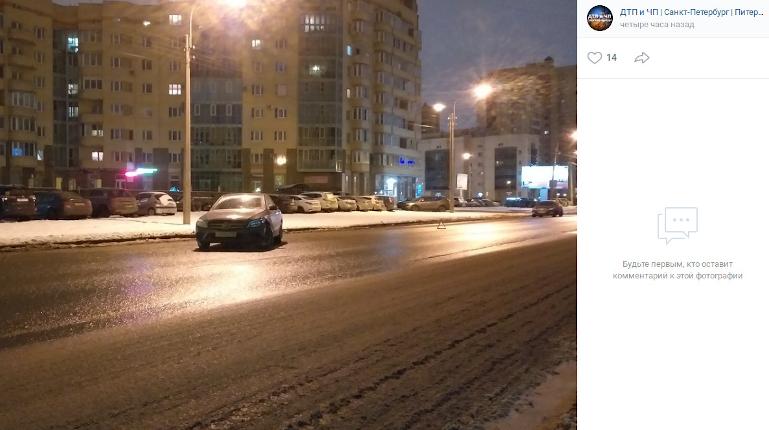 В Московском районе ночью разбитым брошен очередной каршеринг