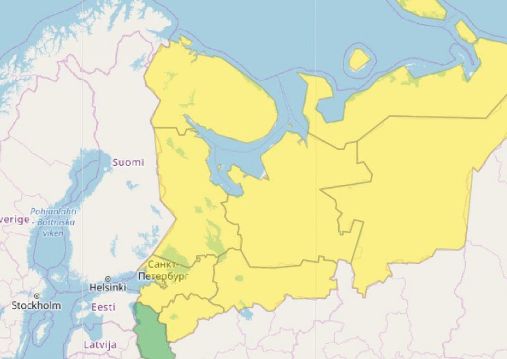 Желтый уровень опасности сменил оранжевый в Петербурге: радоваться рано