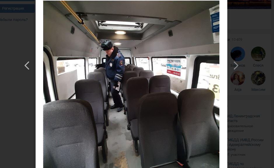 После рейда ГИБДД в Петербурге нашли 55 неисправных автобусов