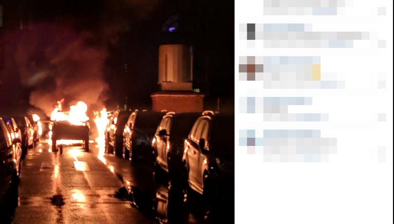 Припаркованная на Киевской улице машина взорвалась