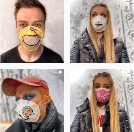 Коронавирус вдохновил петербургских кутюрье на создание креативных масок