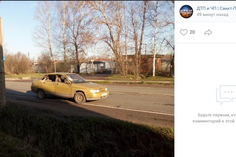 Бьются на пустых дорогах: очевидцы сообщили о ДТП в Пушкине