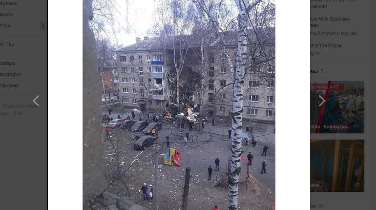 В подмосковном Орехово-Зуево взрыв газа обрушил подъезд жилого дома
