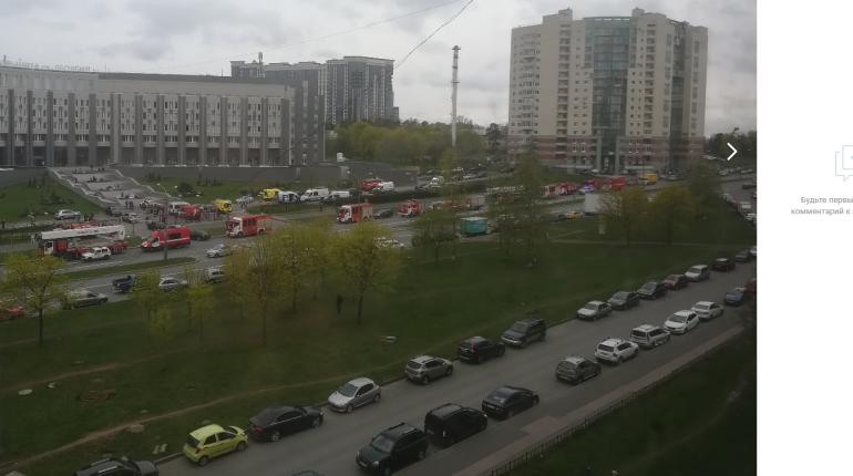 Названа возможная причина пожара в больнице Святого Георгия