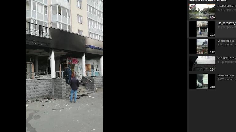 На улице Маршала Захарова сгорели магазин, аптека и шаверма