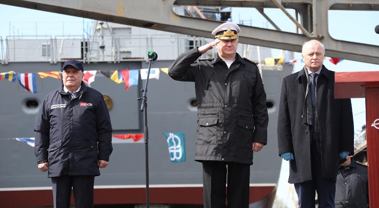 В Петербурге спущен на воду фрегат «Адмирал Головко»