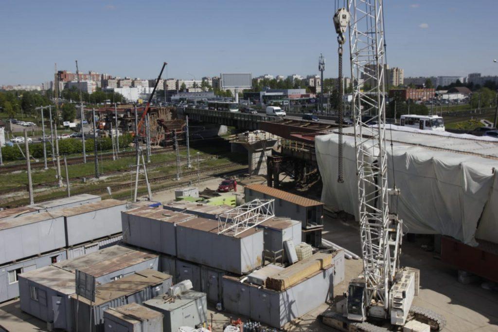 В Петербурге продолжается реконструкция Лиговского путепровода: закончить планируют осенью 2021 года